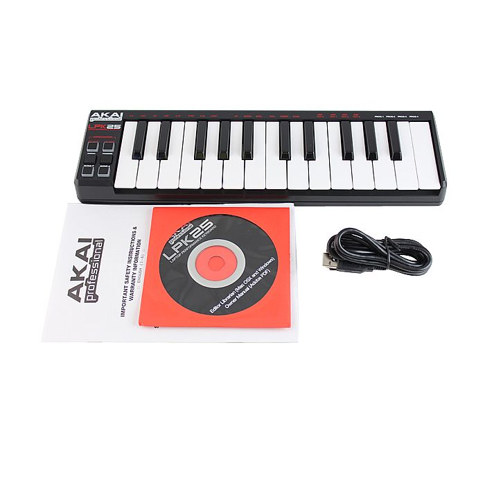 akai lpk25 25 key mini usb midi laptop performance keyboard controller ebay. Black Bedroom Furniture Sets. Home Design Ideas
