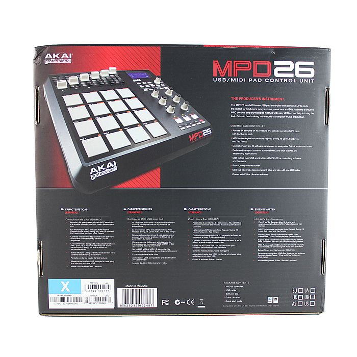 akai mpd26 usb midi pad controller ableton live lite audio production software ebay. Black Bedroom Furniture Sets. Home Design Ideas