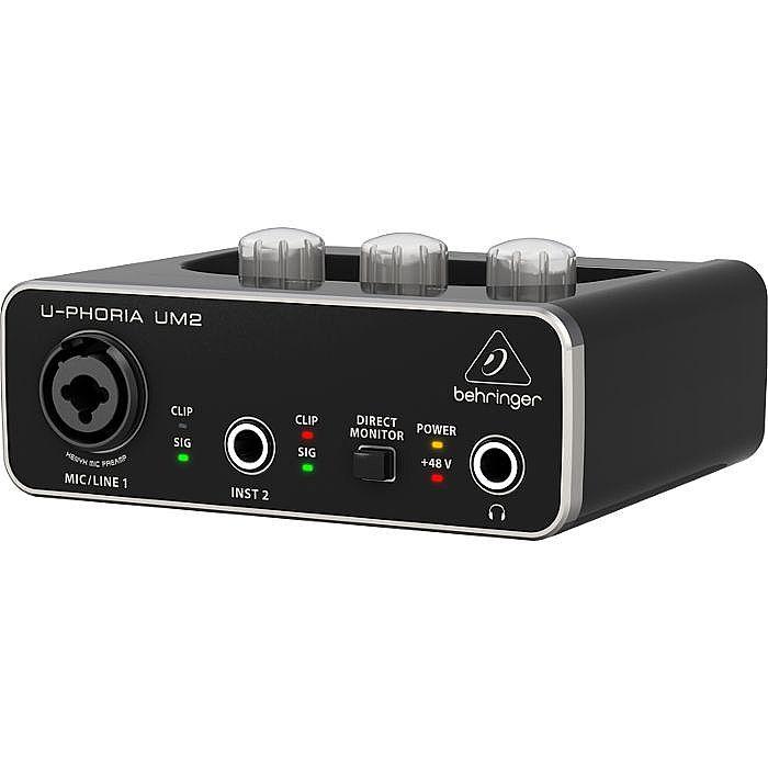 Behringer UM2 UPhoria USB Audio Interface + Tracktion 4 Audio Production Software