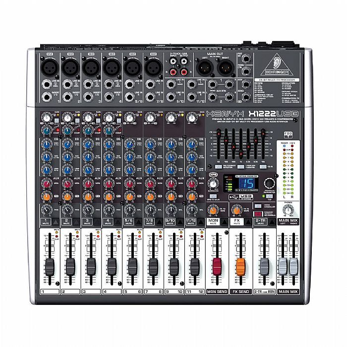 behringer x1222 usb xenyx 16 channel mixer tracktion 4 audio production sof. Black Bedroom Furniture Sets. Home Design Ideas