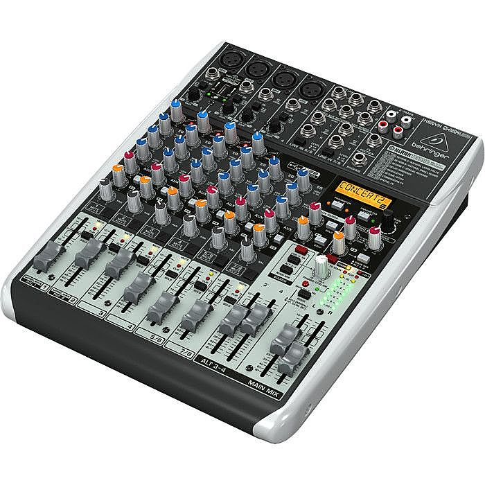 behringer qx1204 usb xenyx 12 input mixer with klark teknik multi fx processor