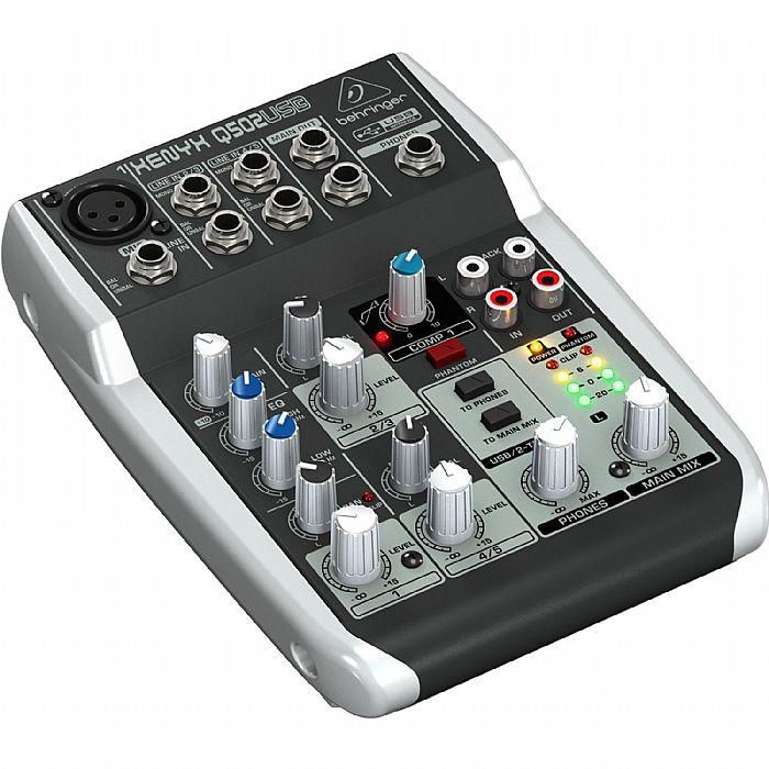 behringer q502 usb xenyx premium 5 input 2 bus mixer free traktion 4 audio ebay. Black Bedroom Furniture Sets. Home Design Ideas