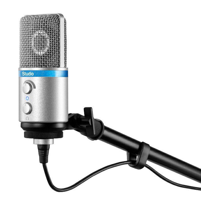 ik multimedia irig mic studio condenser microphone for iphone ipad ipod touch ebay. Black Bedroom Furniture Sets. Home Design Ideas
