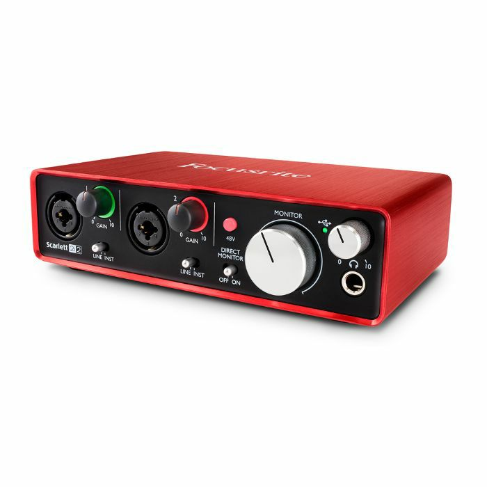 focusrite scarlett 2i2 usb audio interface 2nd generation ebay. Black Bedroom Furniture Sets. Home Design Ideas